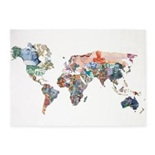 World Money Fiat Currency Map 5'x7'Area Rug