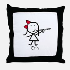Flute - Erin Throw Pillow