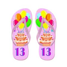SNAZZY 13TH Flip Flops