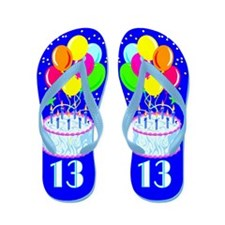 DAZZLING 13TH Flip Flops