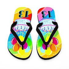 SWEET 13TH Flip Flops