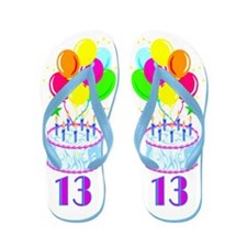 HAPPY 13TH Flip Flops