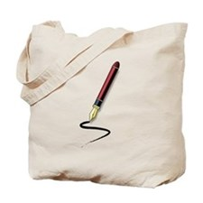 Fountain Pen Writing Tote Bag