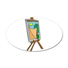 Art Easel with Painting Wall Decal