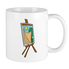 Art Easel with Painting Mugs