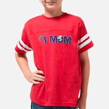 Snoopy - #1 Mom Youth Football Shirt