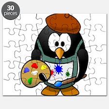 Penguin Artist with Art Pallet Puzzle