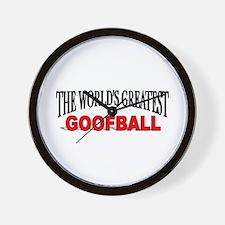 """The World's Greatest Goofball"" Wall Clock"