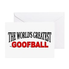 """""""The World's Greatest Goofball"""" Greeting Cards (Pa"""