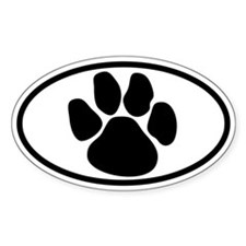 Dog Paw Oval Decal