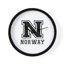 Norway Designs Wall Clock