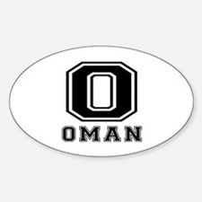 Oman Designs Sticker (Oval)