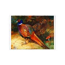 Pheasant Pair 5'x7'Area Rug