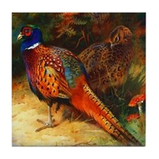 Pheasant Pair Tile Coaster