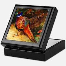 Pheasant Pair Keepsake Box