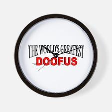 """The World's Greatest Doofus"" Wall Clock"