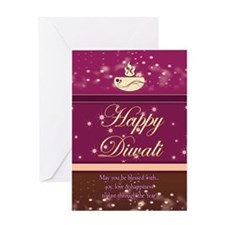 Stylish Diwali Greeting Card Greeting Card Blank