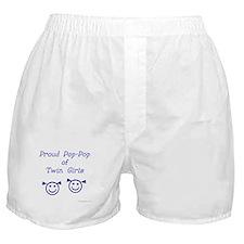 Proud Pop-Pop of Twin Girls Boxer Shorts