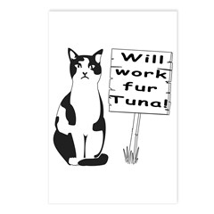 Hungry Feline Postcards (Package of 8)