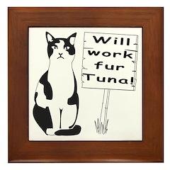 Hungry Feline Framed Tile