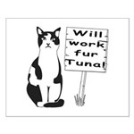 Hungry Feline Small Poster