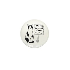 Hungry Feline Mini Button (100 pack)