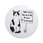 Hungry Feline Ornament (Round)