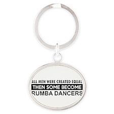 Rumba Dance designs Oval Keychain