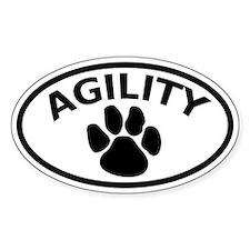 Dog Agility Paw Oval Bumper Stickers