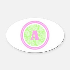 Paisley Oval Car Magnet