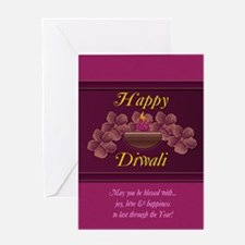 Diwali Greeting Card With Lamp