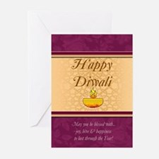 Diwali Greeting Card With Lamp (Pk of 20)