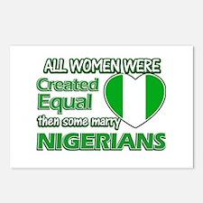 Nigerians husband designs Postcards (Package of 8)