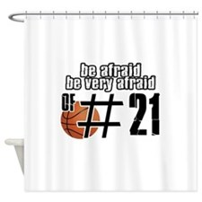 Number 21 basketball designs Shower Curtain