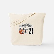 Number 21 basketball designs Tote Bag