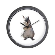 Squirrel With Nut Nature Photo Wall Clock