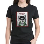 Malamute and sled team Women's Dark T-Shirt