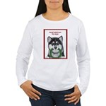 Malamute and sled team Women's Long Sleeve T-Shirt