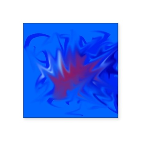 abstract, blue, red Sticker