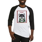 Malamute and sled team Baseball Jersey