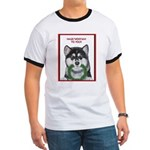 Malamute and sled team Ringer T