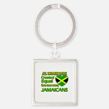 Jamaican husband designs Square Keychain