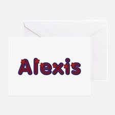 Alexis Red Caps Greeting Card