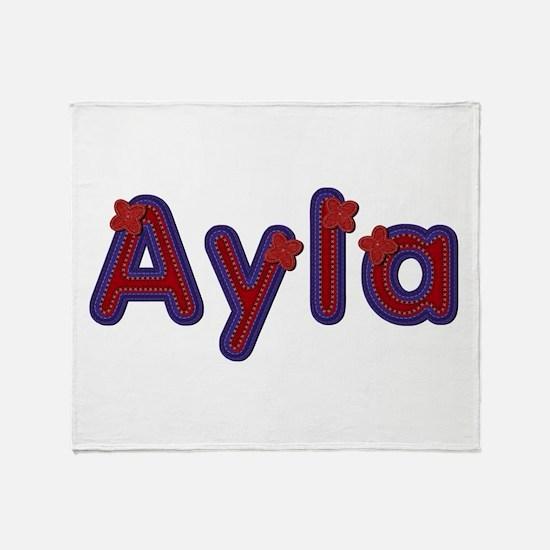 Ayla Red Caps Throw Blanket