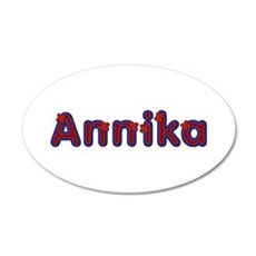 Annika Red Caps Wall Decal