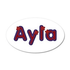 Ayla Red Caps Wall Decal