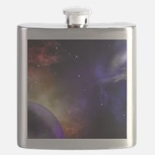 Universe with Planet and Stars Flask