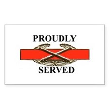 CAB served Rectangle Decal