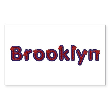 Brooklyn Red Caps Rectangle Sticker 10 Pack