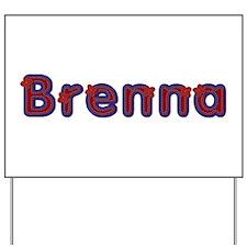 Brenna Red Caps Yard Sign